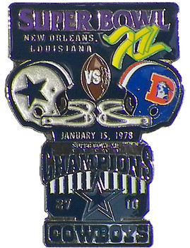 Super Bowl XII (12) Oversized Commemorative Pin
