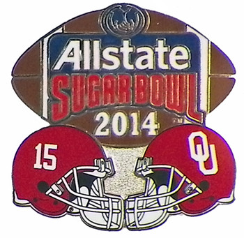 2014 Sugar Bowl Alabama vs. Oklahoma Dueling Pin