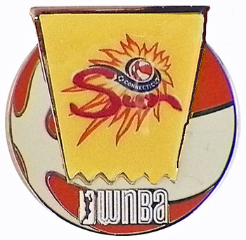 Connecticut Sun WNBA Ball Logo Pin