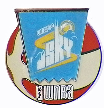 Chicag Sky WNBA Ball Logo Pin