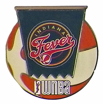 Indiana Fever WNBA Ball Logo Pin