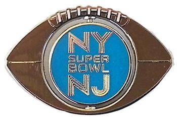 Super Bowl XLVIII Spinning Football Pin