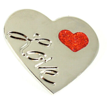 "Valentine's Day ""Love of My Life"" Heart Pin"