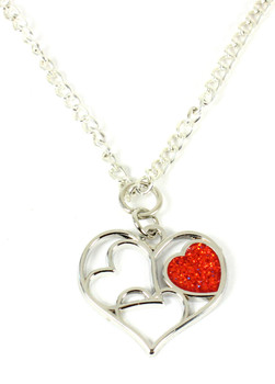 "Valentine's Day ""Love of My Life"" Heart Necklace"