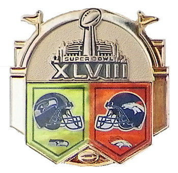Super Bowl XLVIII (48) Broncos vs. Seahawks Dueling Pin