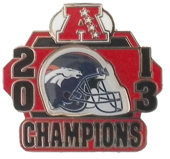 Denver Broncos 2013 AFC Champs Pin