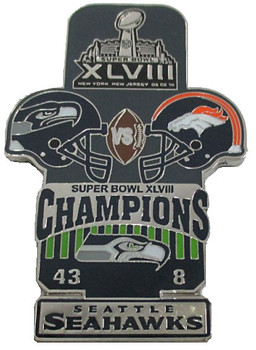 Super Bowl XLVlII (48) Oversized Commemorative Pin