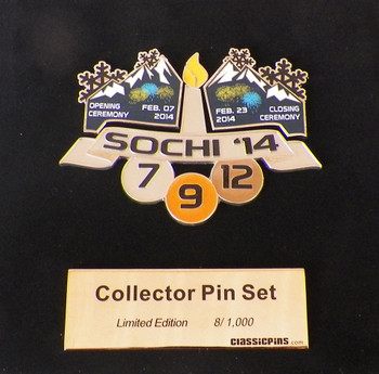 Sochi 2014 Olympics Opening & Closing Ceremony / USA Medal Count Pin Set - Ltd, 1,000
