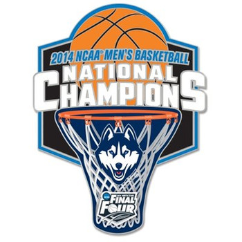 Uconn Huskies 2014 NCAA Basketball National Champs Pin