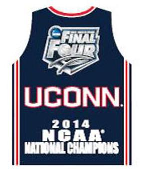 Uconn Huskies 2014 NCAA Basketball National Champs Jersey Pin