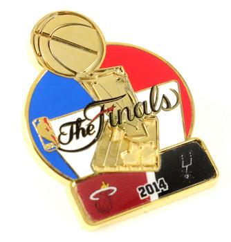 2014 NBA Finals Heat vs. Spurs Dueling Pin