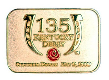 Kentucky Derby 135 Two -Tone Logo Pin