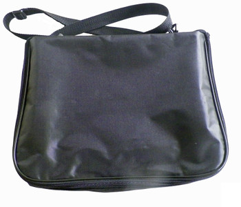 Large Collector Lapel Pin Bag - Black w/ black Piping