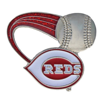 Cincinnati Reds Glitter Trail Pin