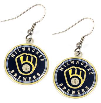 Milwaukee Brewers Round Earrings