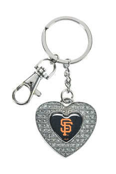 San Francisco Giants Glitter Stone Heart Key Chain