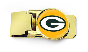 Green Bay Packers Money Clip with Snap Clip