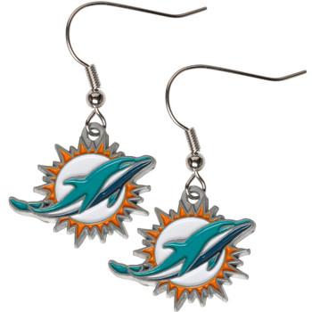 Miami Dolphins Logo Earrings