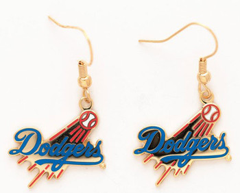 Los Angeles Dodgers Gold Earrings