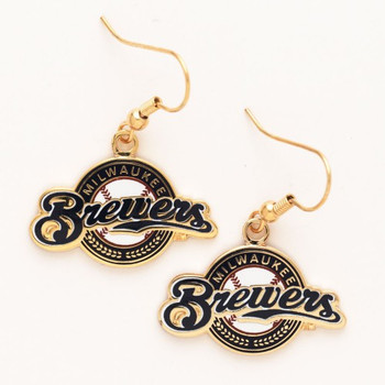 Milwaukee Brewers Logo Earrings