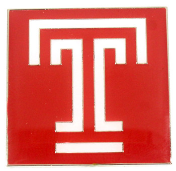 Temple Owls Logo Pin