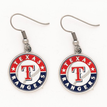 Texas Rangers Logo Earrings