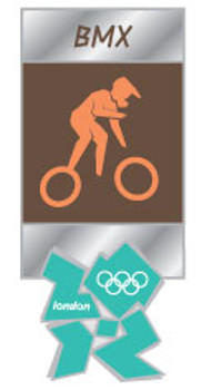 London 2012 Olympics BMX Pictogram Pin