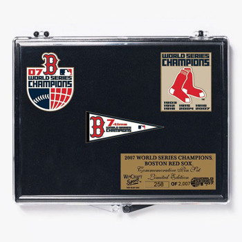 Boston Red Sox 2007 Seven Time World Series Champions Pin Set