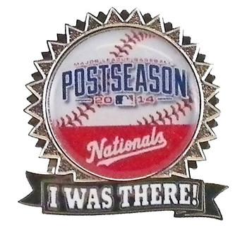 """Washington Nationals 2014 Post Season """"I Was There"""" Pin"""