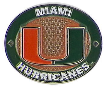 Miami Hurricanes Oval Pin