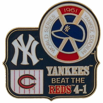1961 World Series Commemorative Pin - Yankees vs. Dodgers