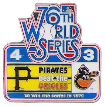 1979 World Series Commemorative Pin - Pirates vs. Orioles