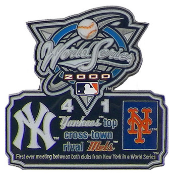 2000 World Series Commemorative Pin - Yankees vs. Mets