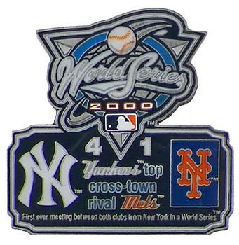 2000 World Series Commemorative Pin - Yankees vs. Mets