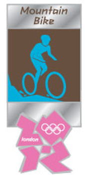 London 2012 Olympics Mountain Bike Pictogram Pin