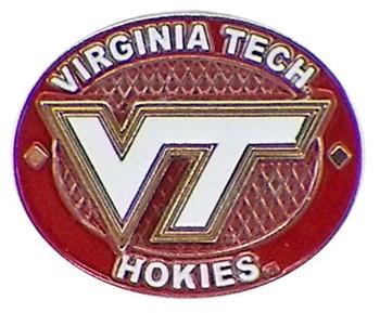 Virginia Tech Oval Pin