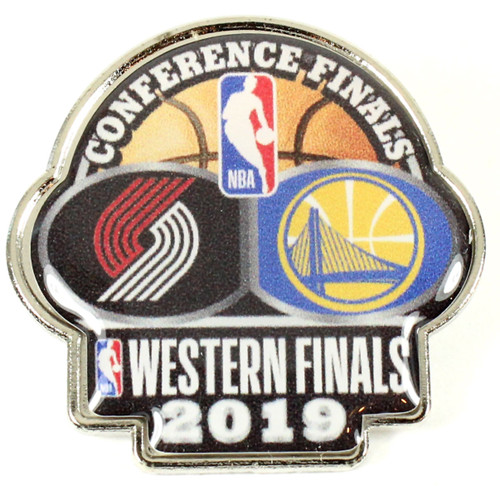 2019 NBA Western Conference Dueling Pins - Trailblazers vs. Warriors Pin