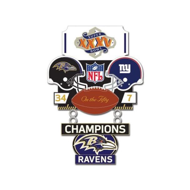 Super Bowl XXXV (35) Commemorative Dangler Pin - 50th Anniversary Edition