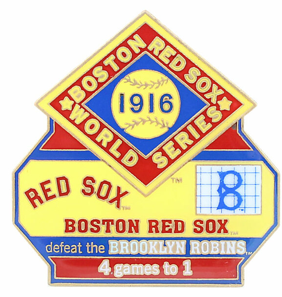 1916 World Series Commemorative Pin - Red Sox vs. Robins (Dodgers)