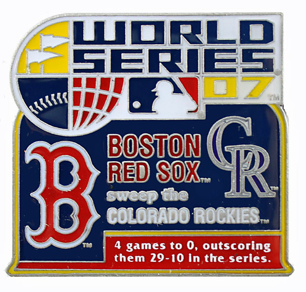 2007 World Series Commemorative Pin - Red Sox vs. Rockies