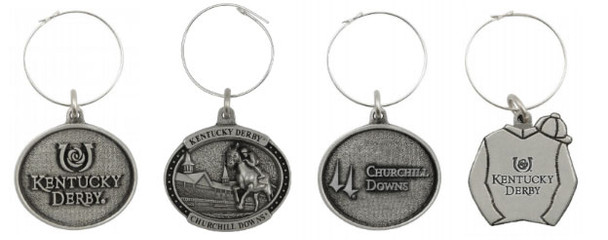 Kentucky Derby Party Wine Charms - Set Of 4