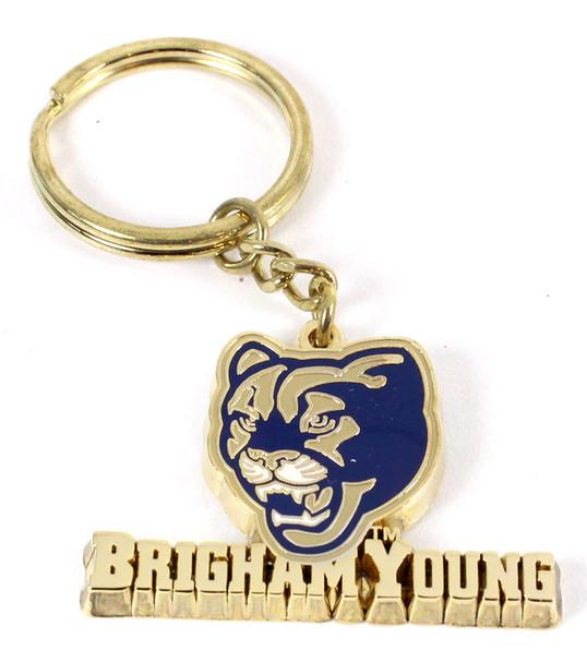 Brigham Young Brass Key Chain