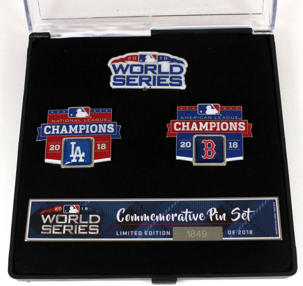 2018 World Series Match Up Pin Set - Dodgers vs. Red Sox - Limited 2,018