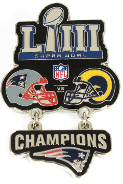 Super Bowl LIII (53) Oversized Commemorative Pin - Dangler Style