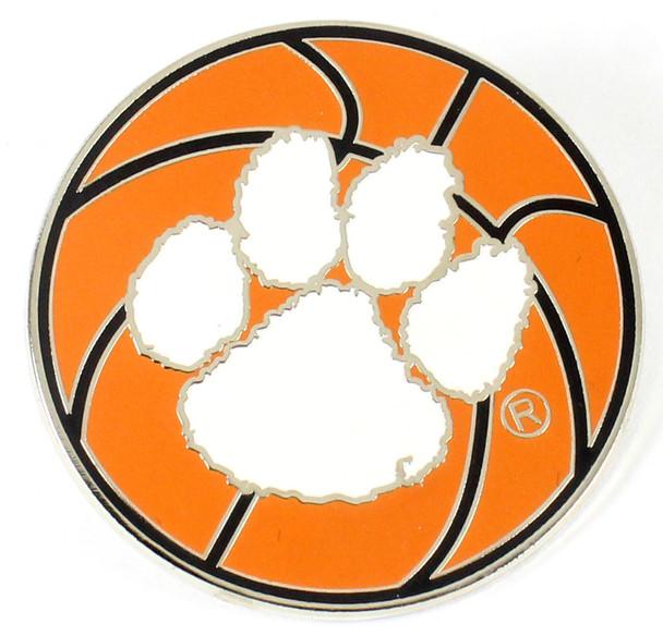 Clemson Tigers Basketball Pin