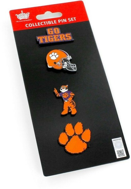 Clemson Tigers Logo Collector Four Pin Set