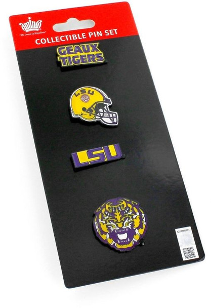 LSU Tigers Four Pin Collector Set