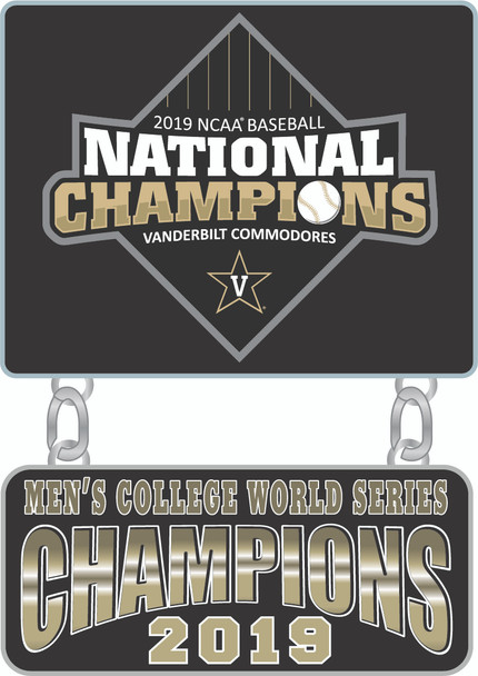 Vanderbilt 2019 College World Series Champs Dangler Pin