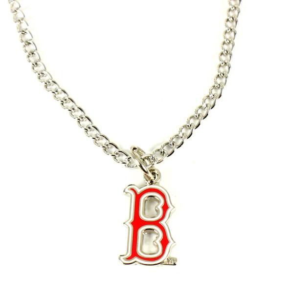 "Boston Red Sox ""B"" Logo Necklace"