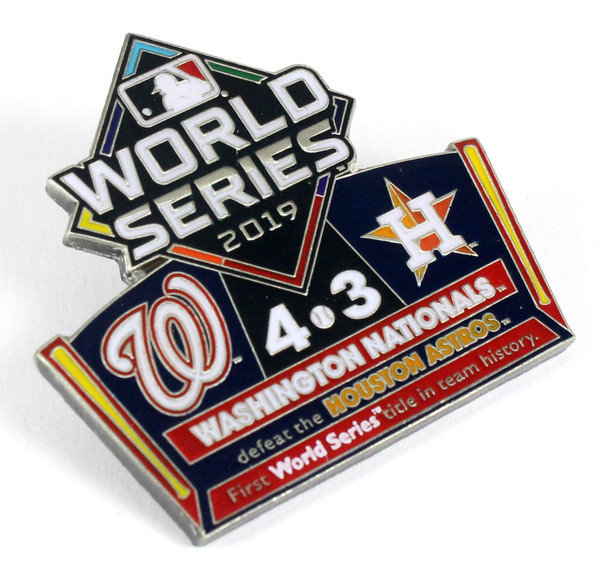 2019 World Series Commemorative Pin - Nationals vs. Astros (Limited Edition - 1,000)